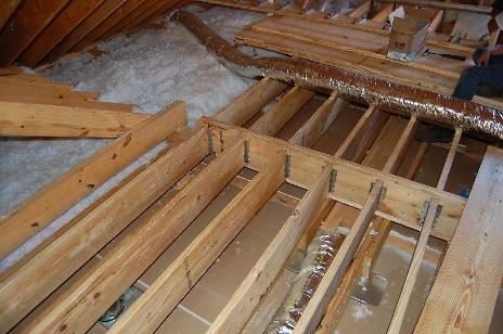 Frame in for New Floor