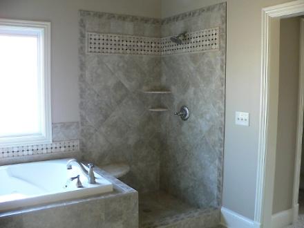 Master Bathroom Shower and Spa Tub