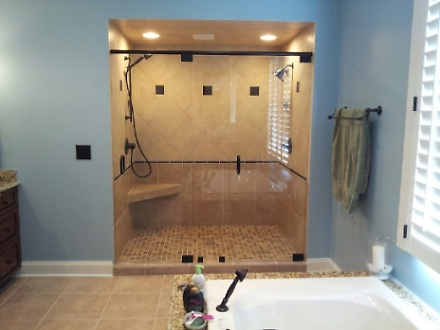 Two Person Tiled Shower