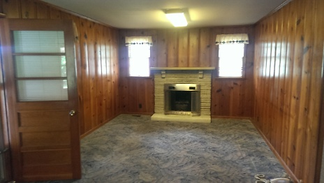 Before of Living Room Fireplace