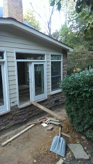 Stone Exterior Install 2