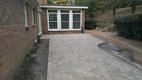 Pavers Installed