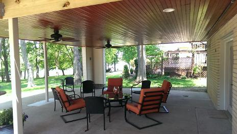 After - Covered Porch With Furniture