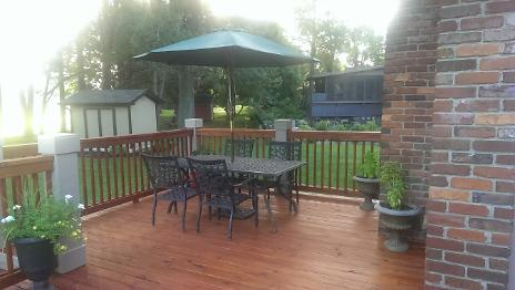 New Back Deck, Stained