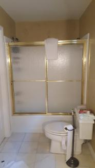 Tub being converted to shower