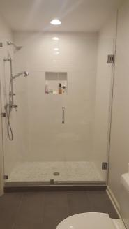 Shower converted from tub