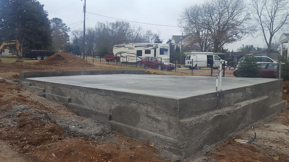 Garage Pad Poured