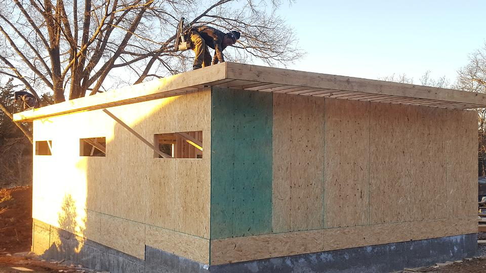 Sheathing for Walls and Roof Applied
