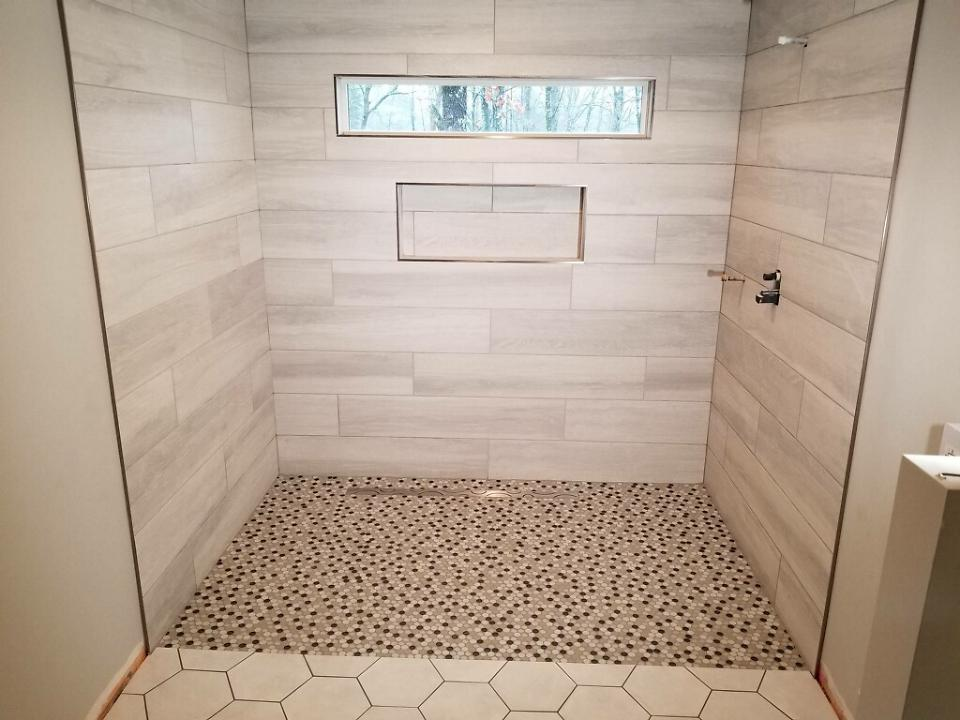 Shower partially done