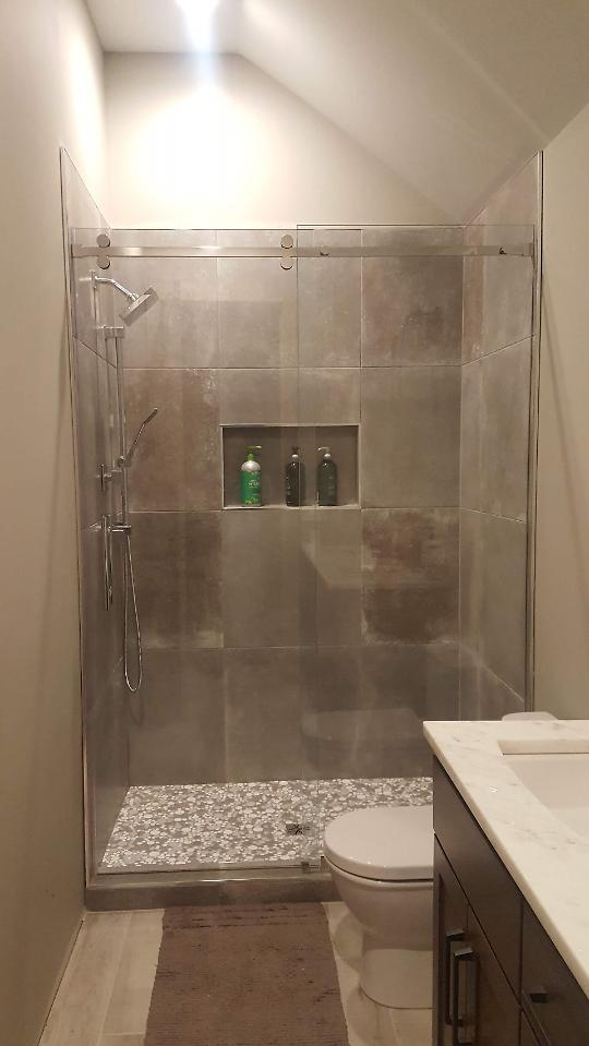Completed boys shower 1